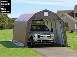 Canvas Storage Sheds Menards by Portable Shelters And Garages Youtube