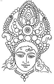 Durga Clip Art Coloring Book Page