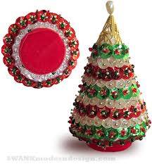 Vintage Sequin Christmas Tree Ornament