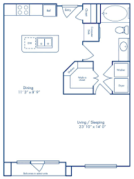Bathroom Floor Plans With Washer And Dryer by Studio 1 U0026 2 Bedroom Apartments In Houston Tx Camden City Centre