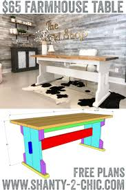 Build This DIY Farmhouse Dining Table For Only $65! | Shanty's ... Farmhouse Wooden Table Reclaimed Wood And Chairs Plans Round Coffee Height Cushions Bench Kitchen Room Rooms High Width Standard Depth 31 Awesome Ding Odworking Plans Ideas Diy Outdoor Free Crished Bliss Rogue Engineer Counter Farmhouse Ding Room Table Seats 12 With Farm With Dinner Leaf Style And Elegance Long Excellent Picture Of Small Decoration Ideas Diy Square 247iloveshoppginfo Old