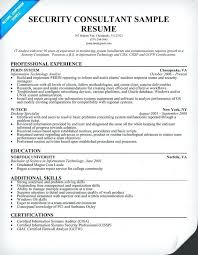 Security Resume Samples Sample Resumes Information