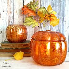 Glass Hand Blown Pumpkins by Using Alcohol Ink To Upcycle Clear Glass Into Diy Pumpkins For