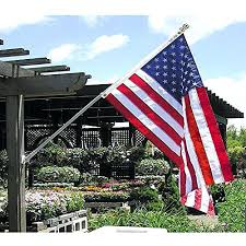 American Garden Flag Flags In A munity Getrhn Stock Image