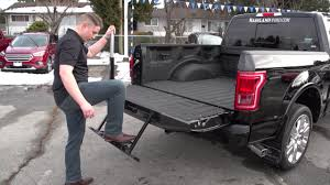 A Quick Look At The 2017 FORD F150 Tailgate Step - YouTube Best Steps Save Your Knees Climbing In Truck Bed Welcome To Replacing A Tailgate On Ford F150 16 042014 65ft Bed Dualliner Liner Without Factory 3 Reasons The Equals Family Fashion And Fun Local Mom Livingstep Truck Step Youtube Gm Patents Large Folddown Is It Too Complex Or Ez Step Tailgate 12 Ton Cargo Unloader Inside Latest And Most Heated Battle In Pickup Trucks Multipro By Gmc Quirk Cars Bedstep Amp Research