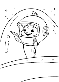 Fish Out Of Water Goodbye Waving To Chicken Little Colouring Page