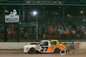 Chase Briscoe ThorSport Racing Ford F 150 Drives Under The Checkered Flag