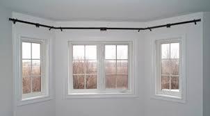 rod desyne bay window lockseam double curtain rod and hardware set
