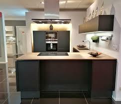 l küche schwarz matt mit 1 6cm arbeitsplatte