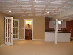recessed lighting in drop ceiling comtemporary interior basement