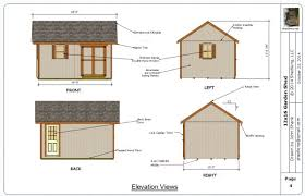 Saltbox Shed Plans 12x16 by 12x16 Garden Shed Plans