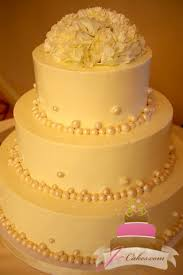 1051 Pearl Border Wedding Cake
