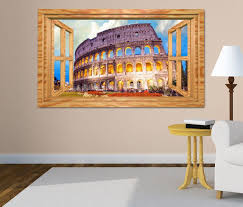 3d wandtattoo kolosseum rom italien bauwerk antik fenster wandbild wohnzimmer wand aufkleber 11l1848 wandtattoos und leinwandbilder günstig