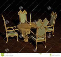 Antique Dining Table Stock Illustration. Illustration Of ...