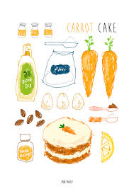 carrot cake recipe illustration instagram moreparsley heavenkim