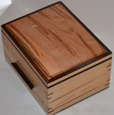 Mens Dresser Valet by Hand Crafted Rosewood And Ambrosia Maple Jewelry And Or Watch Box