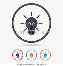 light bulb icon l sign illumination stock vector 551166769