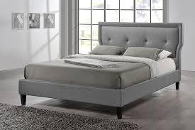 amazon com baxton studio marquesa grey fabric upholstered