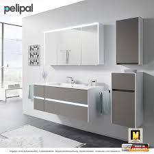 pelipal solitaire 6010 badmöbel als set 133 cm mit led spiegelschrank und waschtischset 4 auszüge