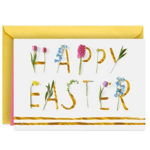 Spring Flower Lettering Easter Card