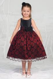 red flower dresses girls dress line