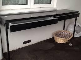 Ikea Besta Burs Desk by Black Gloss Ikea Best Burs Desk Sstc In Martham Norfolk Gumtree