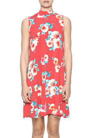peach love california red floral dress from cincinnati by trend