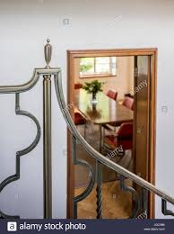 1930s Art Deco Silver Banister Detail In London Home Stock Photo ... Sol Kogen Edgar Miller Old Town Feature Chicago Reader Model Staircase Black Banister Phomenal Photos Design Best 25 Victorian Hallway Ideas On Pinterest Hallways Hallway Avon Road Residence By Bhdm 10 Updating A 1930s Colonial House To Rails Top Painted Stair Railings Ideas On Skylight And Lets Review All My Aesthetic Choices In One Post Decoration Awesome Fixtures Wall Lights Over White Color I Posted Beauty Shot Of New Banister Instagram The Other Chads Crooked White Oak Staircases 2 Paint Out Some Silver Detail Art Deco Home Stock Photo Royalty Spindles Square Newel