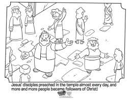 Kids Coloring Page From Whats In The Bible Showing Peter Preaching Volume 11