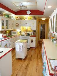 Red And Yellow Vintage Kitchen Same As The White Blue