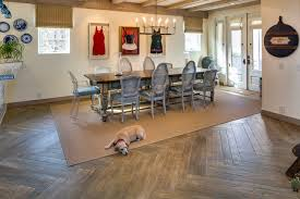 Cerdomus Tile Wood Look by Beautiful On The Beach Beach Style Dining Room San Diego
