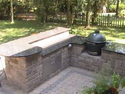 Big Green Egg Outdoor Kitchen Plans New With Gas Grill And