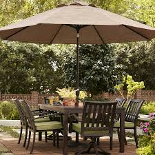 Sears Rectangular Patio Umbrella by Patio Allen U0026 Roth Patio Furniture Lowes Outdoor Table And