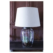 Fillable Table Lamp Clear Glass by Glass Fillable Table Lamp With Shade Target