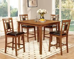 amazon com furniture of america lazio 5 piece transitional pub