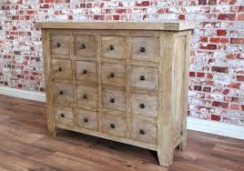 Brand New Rustic Reclaimed Hardwood Apothecary Chest of Drawers
