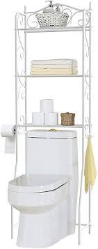 home bi über der toilette badezimmer platzsparendes spacsaver 3 einlegeböden etagere freistehend badezimmer regal organizer wc rack mit
