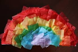 Paper Plate Rainbow Craft With Tissue