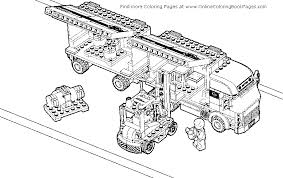 Monster Truck Coloring Pages Lego Fire Kids