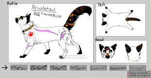 cat creator warrior cats oc bristletail by ravenstar15 on deviantart