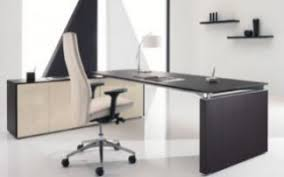 meuble de bureau design mobilier de direction bureau design ébénisterie plateau verre ou
