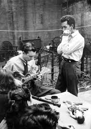 Pete Seeger And Woody Guthrie At Seegers Wedding 129 MacDougal Street 1943