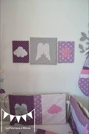 triptyque tableau décoratif chambre enfant bébé fille ange étoile