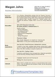 Business Administration Resume Examples In Word