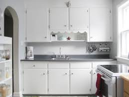 1940s BM Stonington Gray Kitchen With Snowfall White Cabinets And Trim