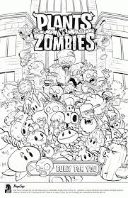 Plants Vs Zombies Coloring Pages To Print Online At281