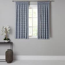 Fabric Curtains John Lewis by Buy John Lewis Persia Lined Pencil Pleat Curtains Indian Blue