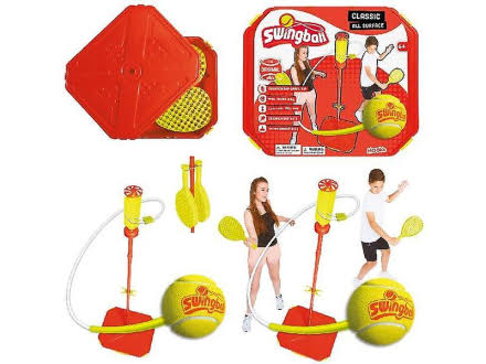 Mookie Swing Ball Classic All Surface Base And Real Tennis Ball