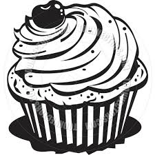 Baked Goods Black And White Clipart 1 837