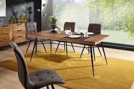 wohnling esstisch nishan holz 200x77x100 cm sheesham massiv esszimmertisch massivholz